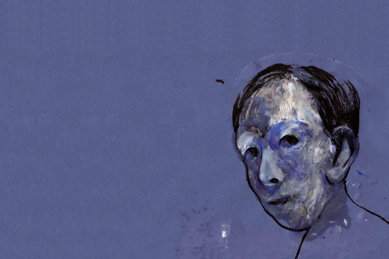 il-disegno-del-volto-di-un-uomo-per-l'evento-cinque-giorni-della-vita-di-B.